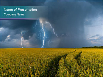 A Thunderstorm in the Field Sjablonen PowerPoint presentatie