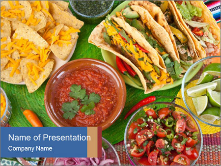 Hot Mexican Food PowerPoint Template