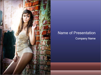 Sexy Urban Girl PowerPoint Template