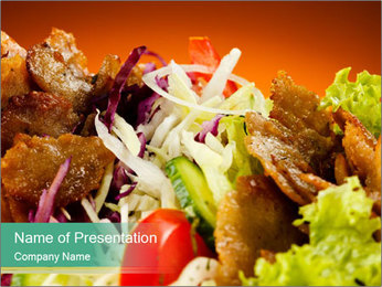 Delicious Asian Kebab PowerPoint Template