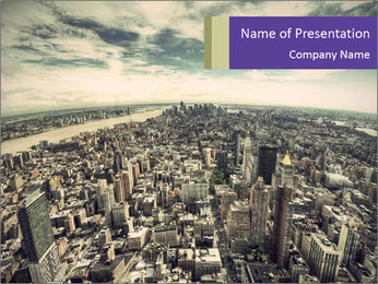 Manhattan Panoramic View PowerPoint Template