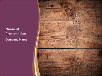 Dark Wooden Texture PowerPoint Template