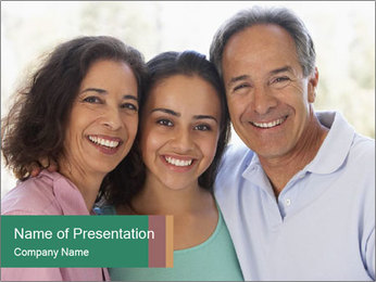 Happy Family Meeting PowerPoint Template