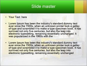 Yellow Luxury Kitchen Sjablonen PowerPoint presentatie