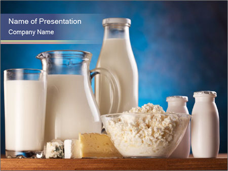 Milk Products Composition PowerPoint šablony