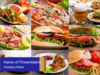 Delicious Fast Food PowerPoint-Vorlagen