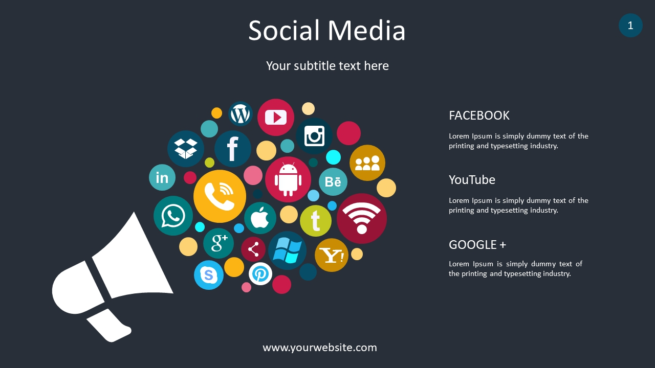 Social Media PPT Diagrams & Chart PowerPoint Infographics