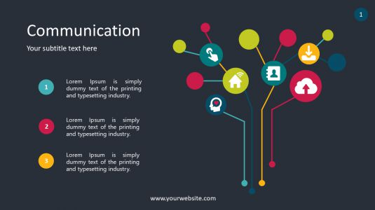 Communication PPT Diagrams & Chart PowerPoint Infographics