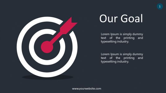 Our Goal PowerPoint Infographics