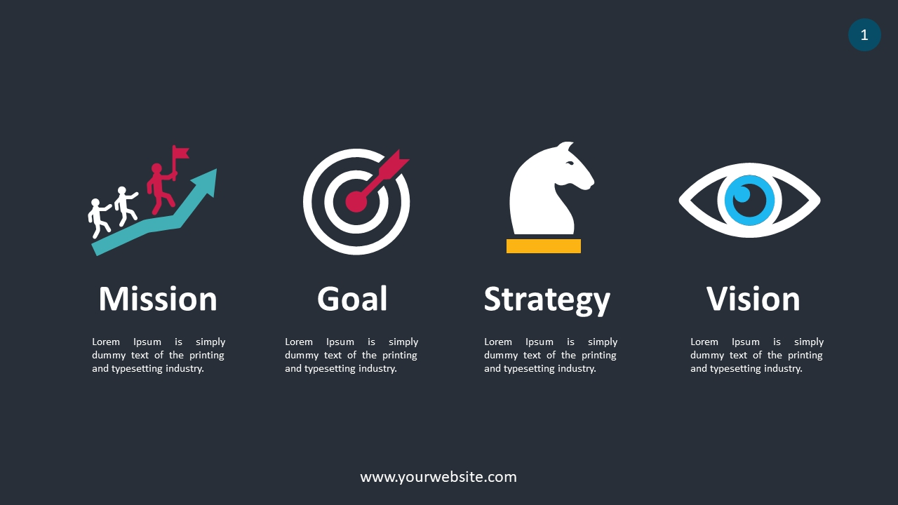 Key Points Of Business Success PowerPoint Infographics