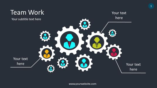 Team Work PowerPoint Infographics