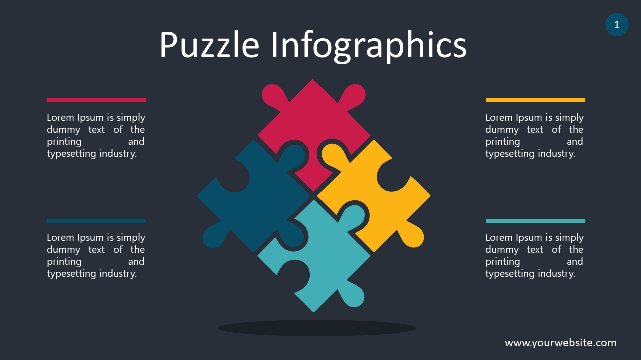 Puzzle Infographics PowerPoint Infographics