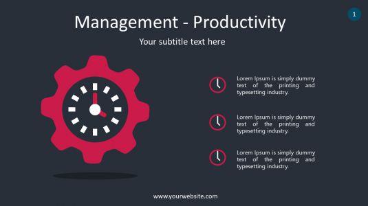 Management – Productivity PowerPoint Infographics