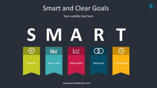 Smart And Clear Goals PowerPoint Infographics