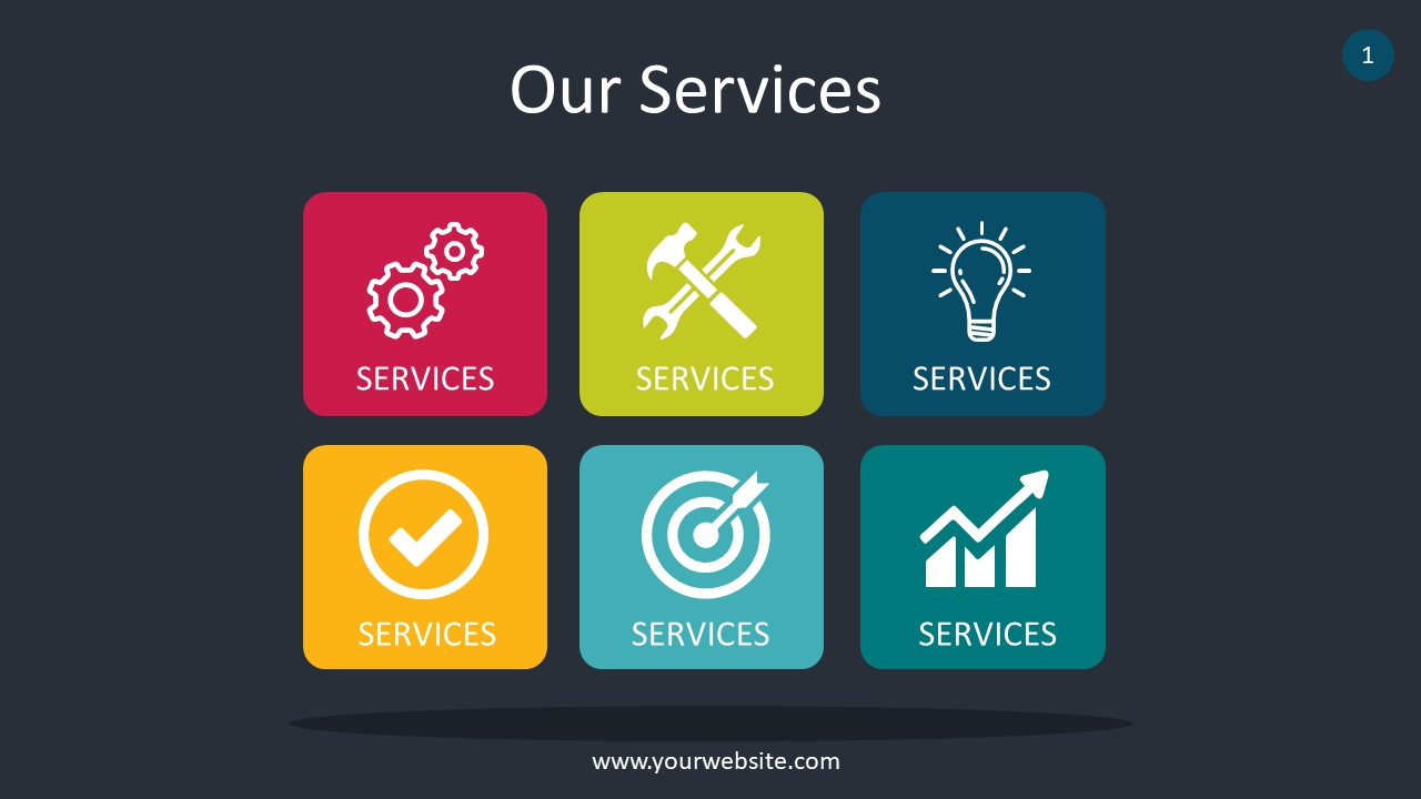 Our Services PowerPoint Infographics