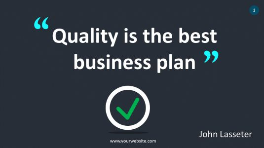 Quality Is The Best Business Plan PowerPoint Infographics