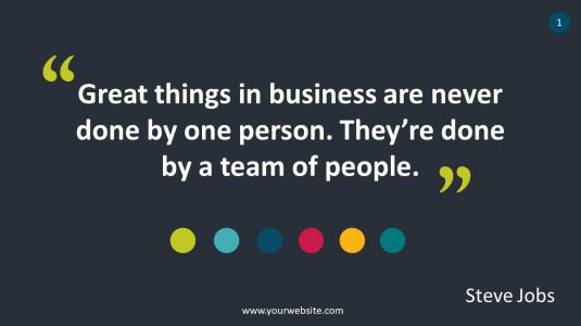Business Quote PowerPoint Infographics