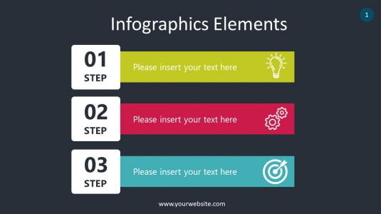 Steps Infographics Elements PowerPoint Infographics