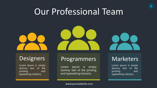 Our Professional Team PowerPoint Infographics