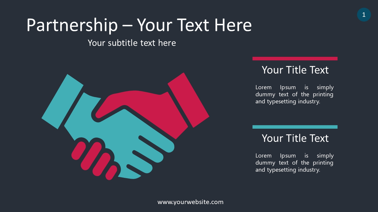 Partnership PowerPoint Infographics