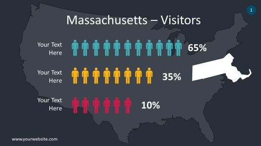 Massachusetts PowerPoint Infographics