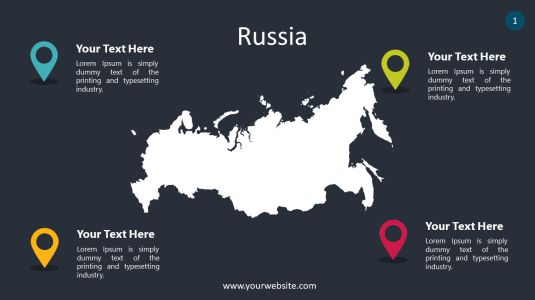 Russia PowerPoint Infographics