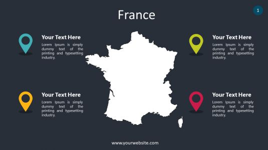 France PowerPoint Infographics