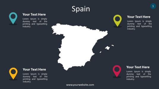 Spain PowerPoint Infographics