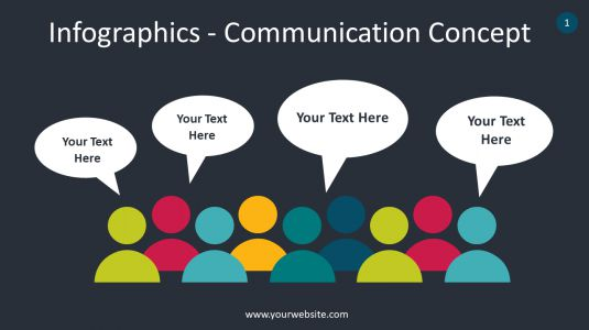 Infographics – Communication Concept PowerPoint Infographics