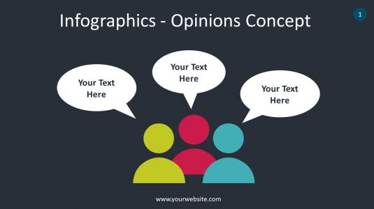 Infographics – Opinions Concept PowerPoint Infographics