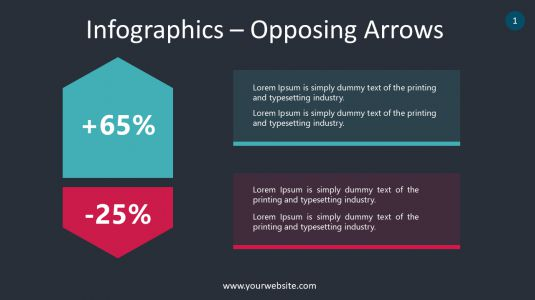 Infographics – Opposing Arrows PowerPoint Infographics