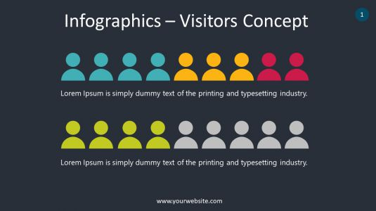 Infographics – Visitors Concept PowerPoint Infographics