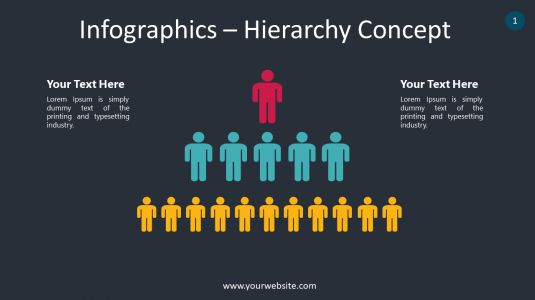 Infographics – Hierarchy Concept PowerPoint Infographics