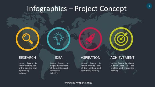 Infographics – Project Concept PowerPoint Infographics