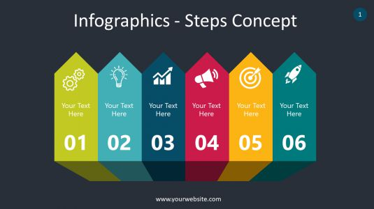 Infographics – Steps Concept PowerPoint Infographics
