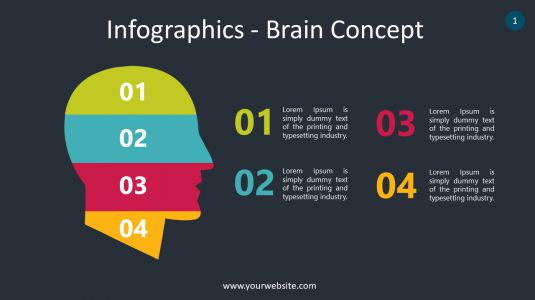 Infographics – Brain Concept PowerPoint Infographics