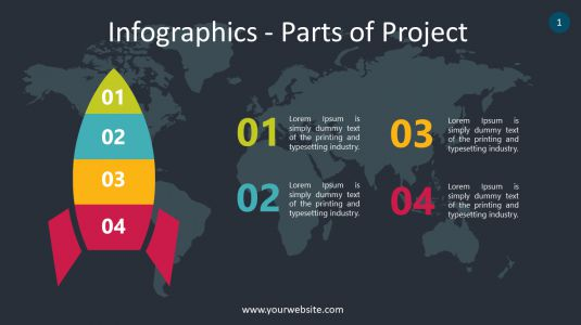 Infographics – Parts Of Project PowerPoint Infographics