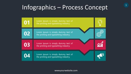 Infographics – Process Concept PowerPoint Infographics