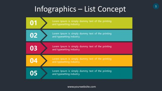 Infographics – List Concept PowerPoint Infographics