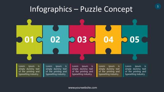 Infographics – Puzzle Concept PowerPoint Infographics