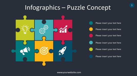 Infographics – Puzzle Concept PowerPoint Infographics