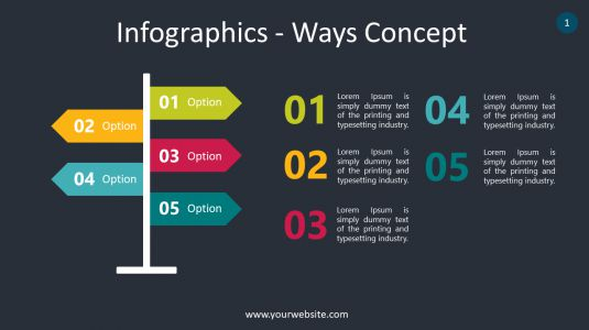 Infographics – Ways Concept PowerPoint Infographics