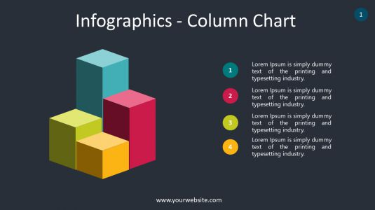 Infographics – Column Chart PowerPoint Infographics