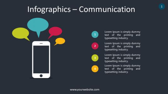Infographics – Communication PowerPoint Infographics