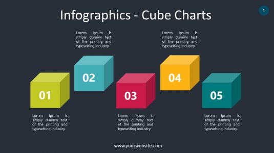 Infographics – Cube Charts PowerPoint Infographics