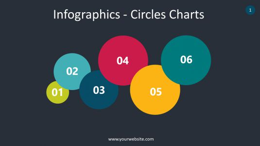 Infographics – Circles Charts PowerPoint Infographics