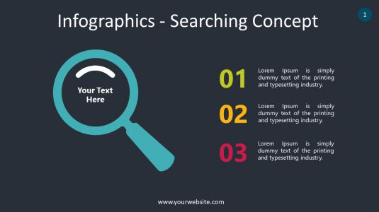 Infographics – Searching Concept PowerPoint Infographics