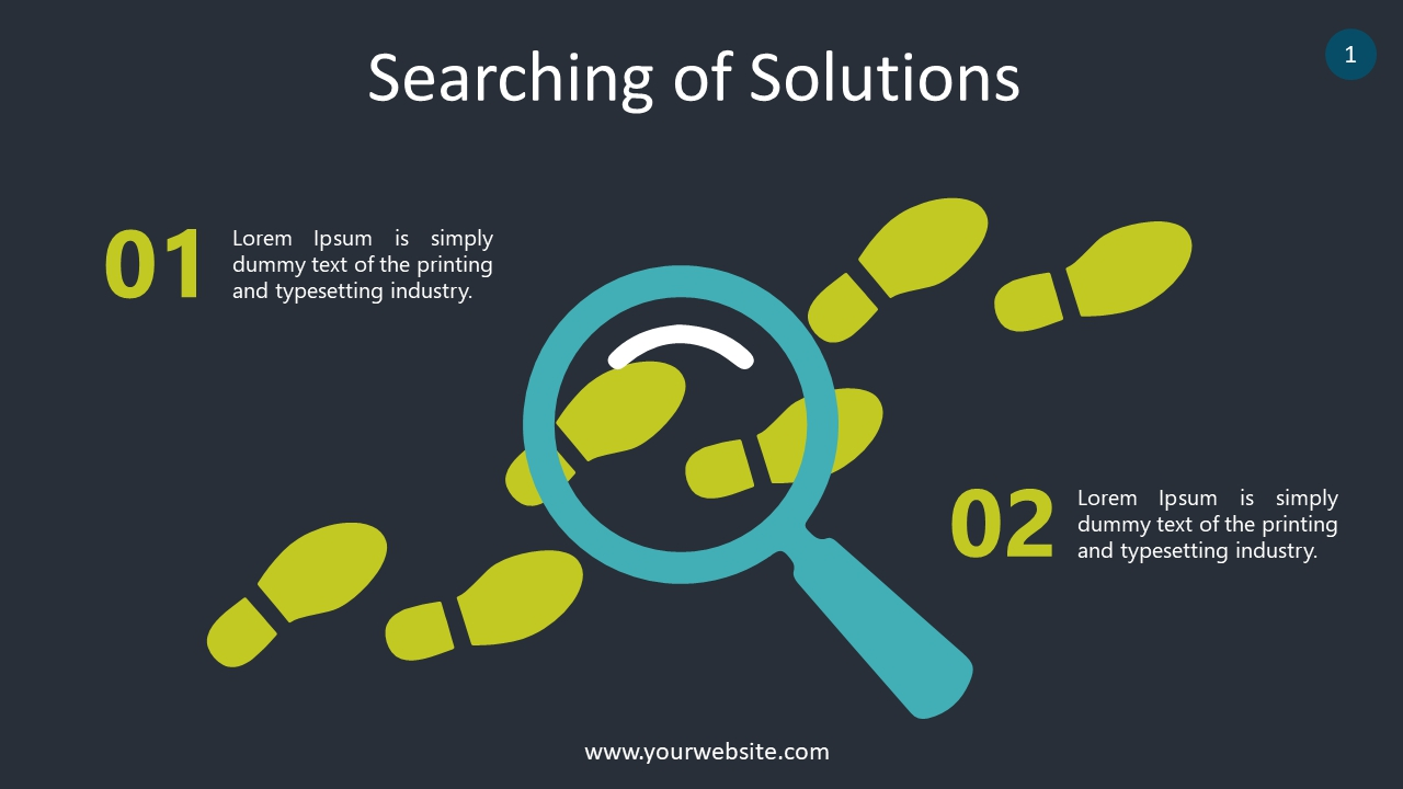 Searching of Solutions PowerPoint Infographics