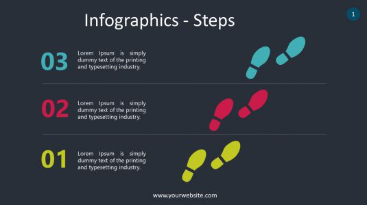 Steps PowerPoint Infographics