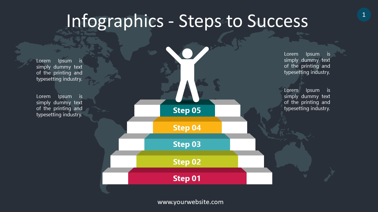 Infographics – Steps to Success PowerPoint Infographics